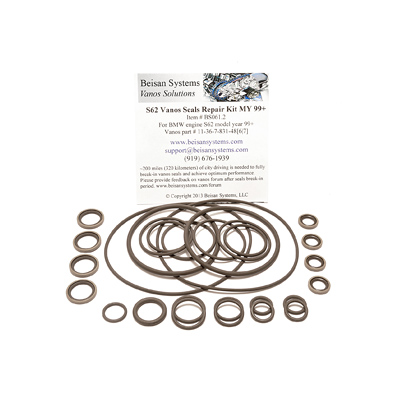 картинка S62 Vanos Seals Repair Kit Beisan Systems магазин BmwDoctor.ru